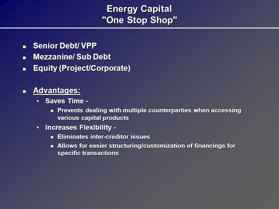 Energy Capital One Stop Shop