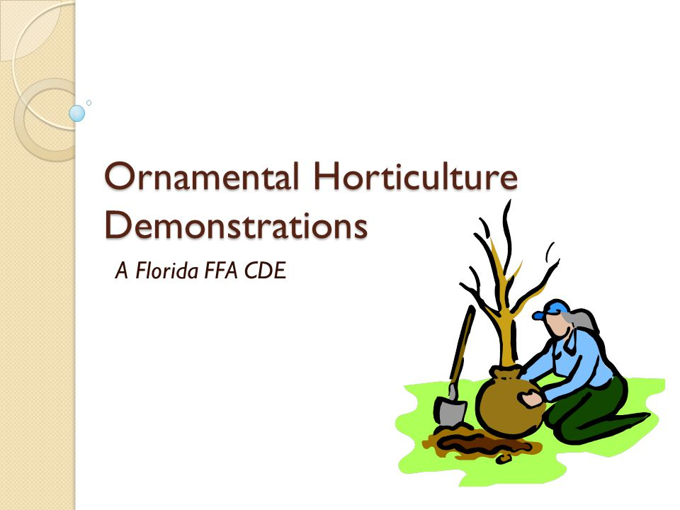 Ornamental Horticulture Demonstrations