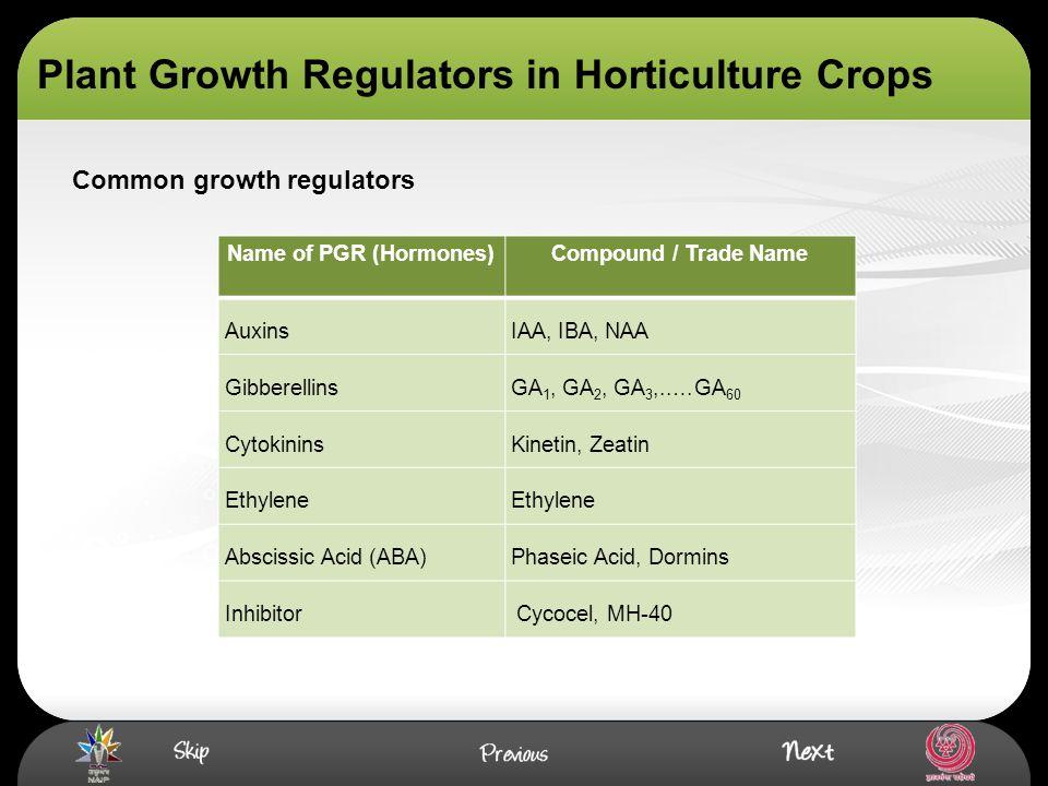 Common growth regulators