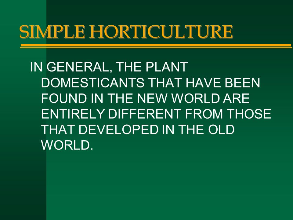SIMPLE HORTICULTURE