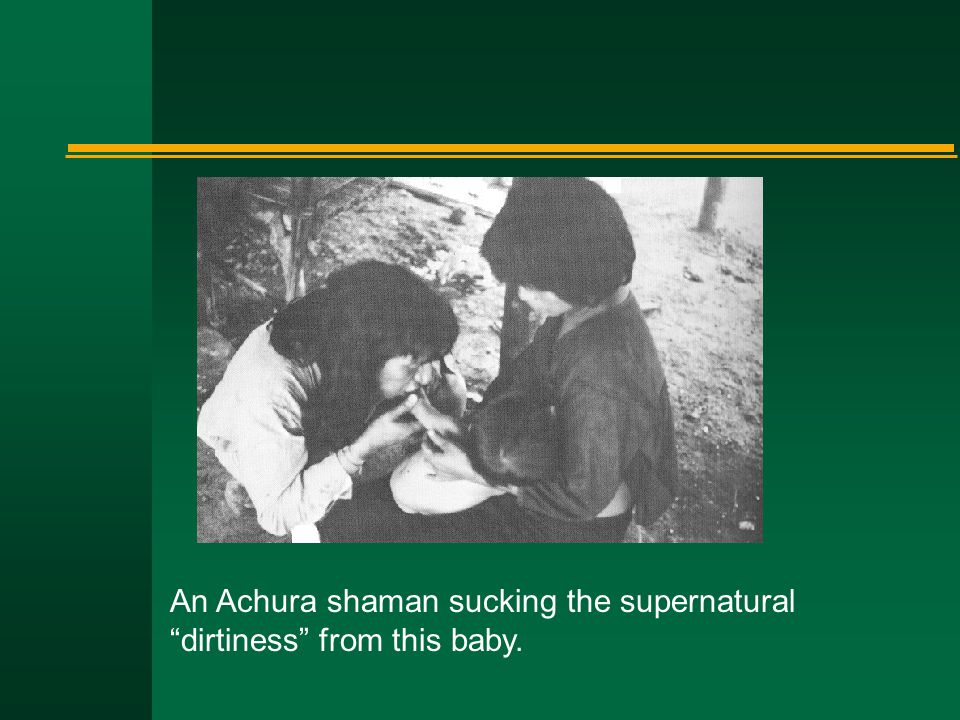 An Achura shaman sucking the supernatural dirtiness from this baby.