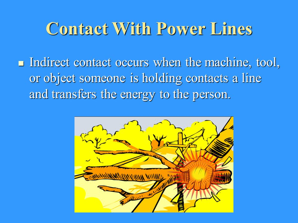 Contact With Power Lines