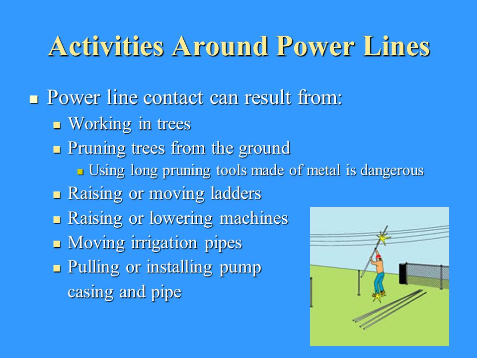 Activities Around Power Lines