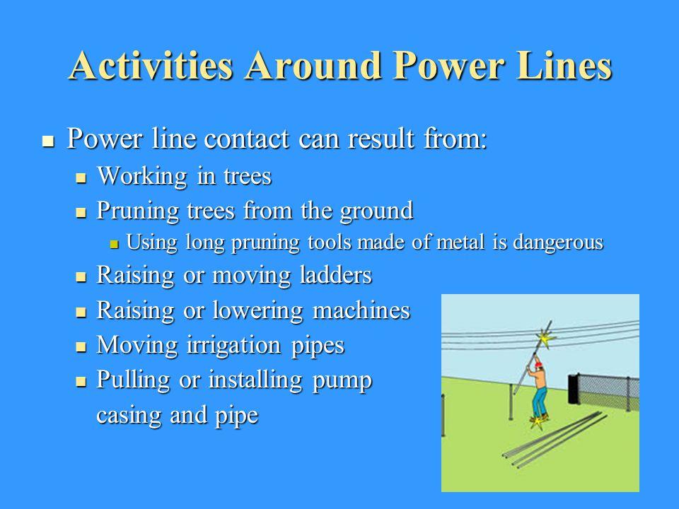 Activities Around Power Lines