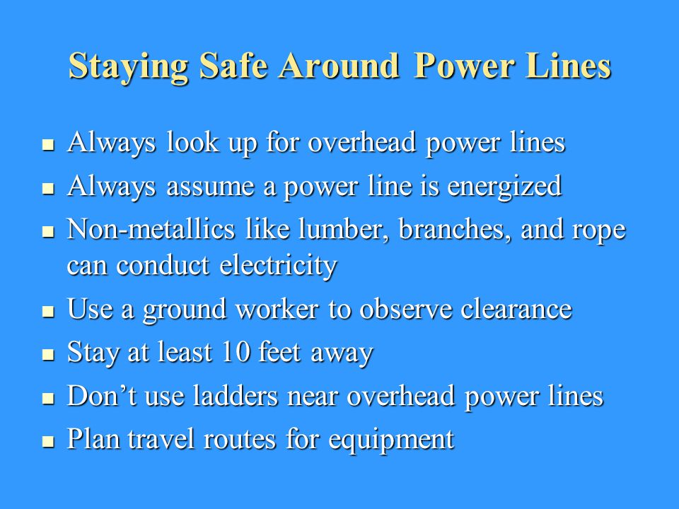 Staying Safe Around Power Lines