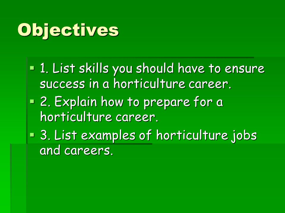 understanding the horticulture industry ppt