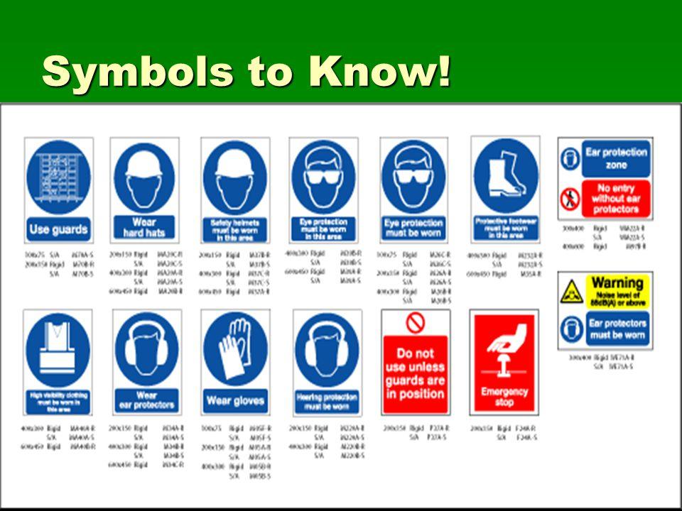 Symbols to Know!
