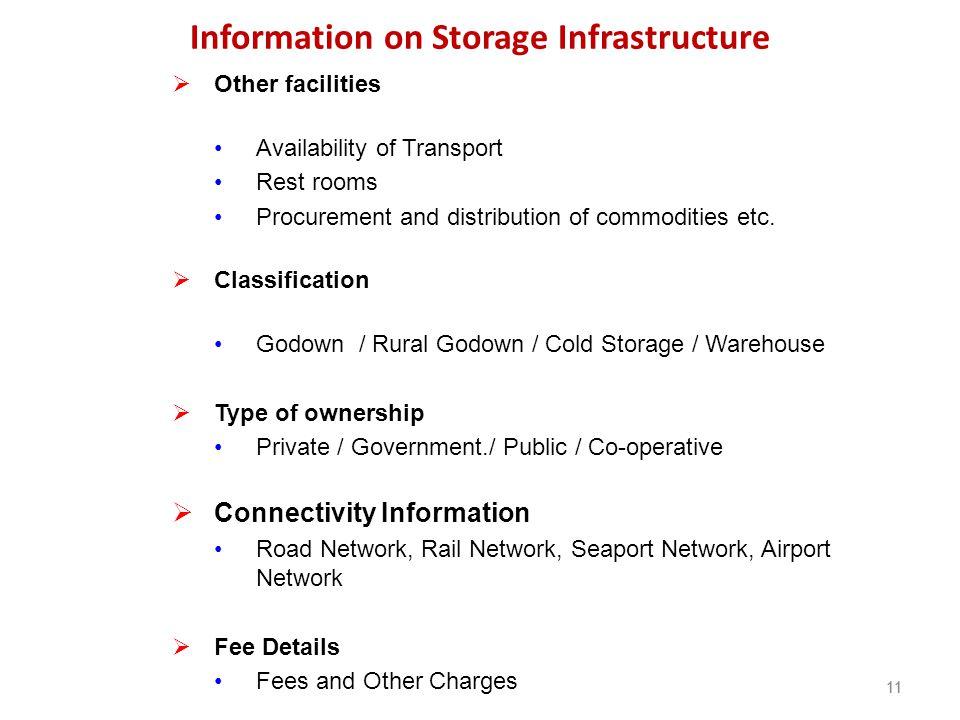 Information on Storage Infrastructure