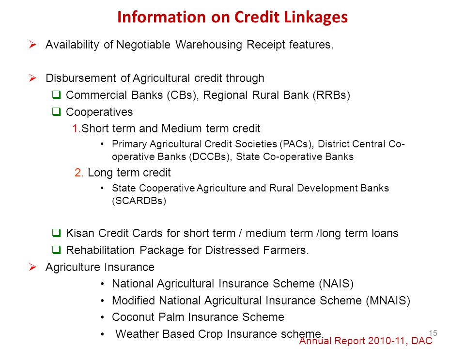 Information on Credit Linkages