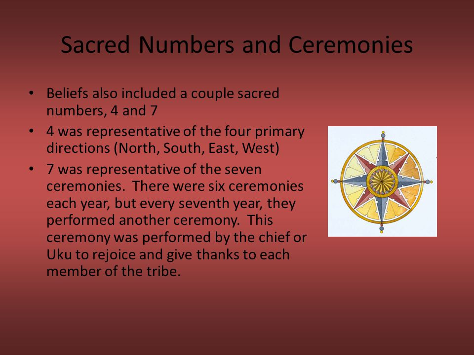 Sacred Numbers and Ceremonies