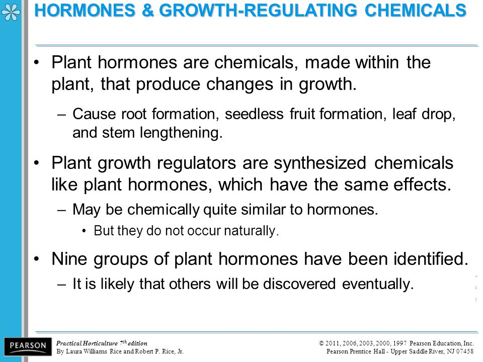 HORMONES & GROWTH-REGULATING CHEMICALS