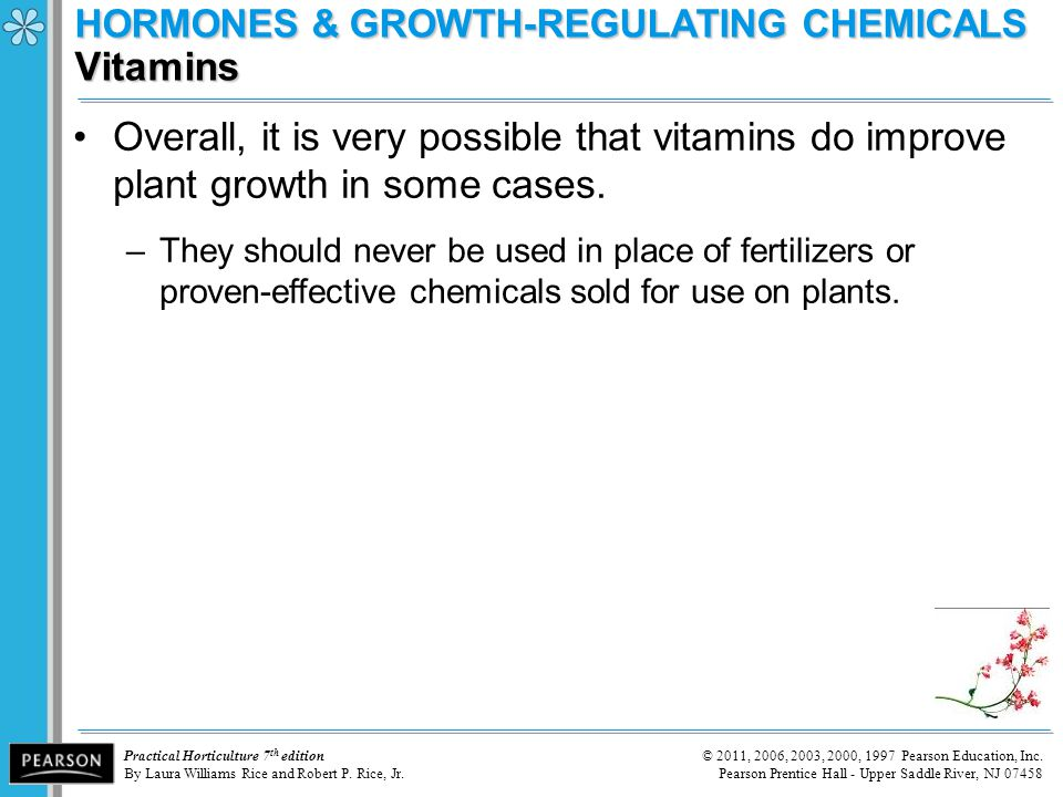 HORMONES & GROWTH-REGULATING CHEMICALS Vitamins