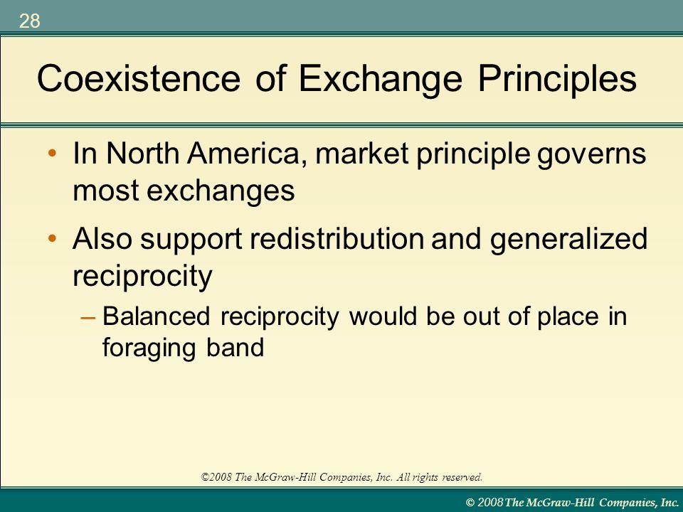 Coexistence of Exchange Principles