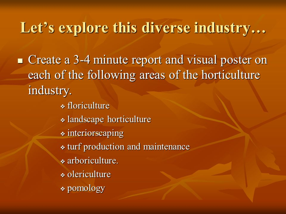 Let's explore this diverse industry…