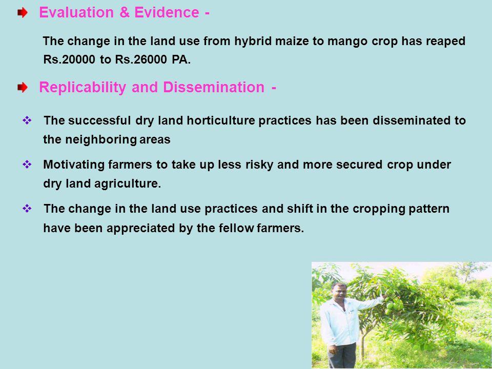 Evaluation & Evidence -