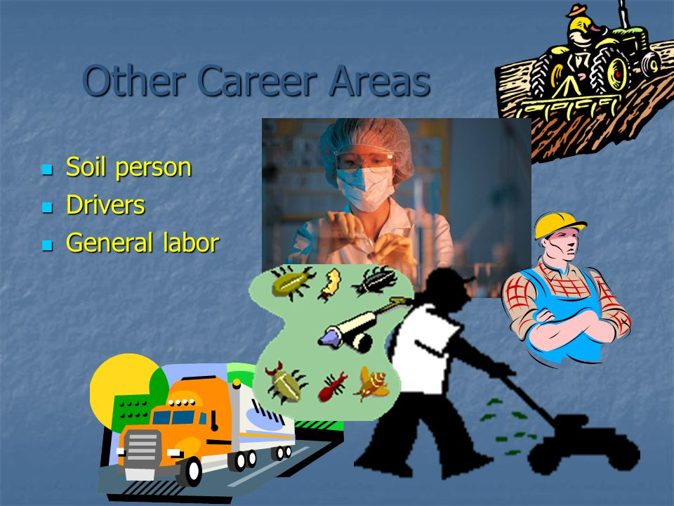Other Career Areas Soil person Drivers General labor