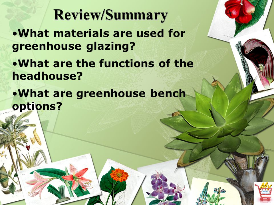 Review/Summary What materials are used for greenhouse glazing