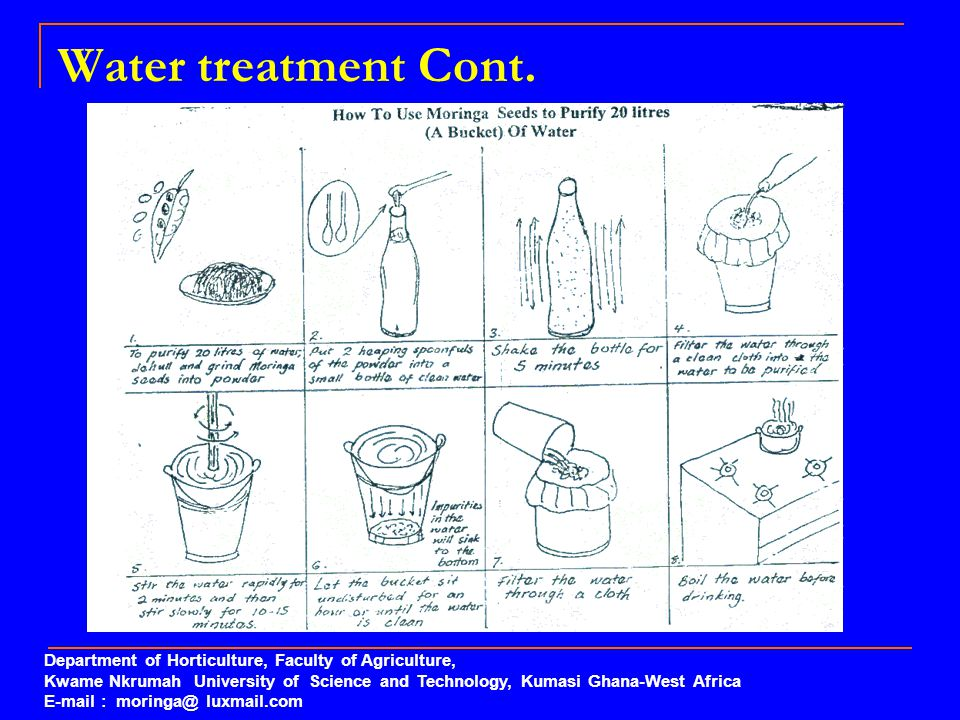 Water treatment Cont. Department of Horticulture, Faculty of Agriculture,