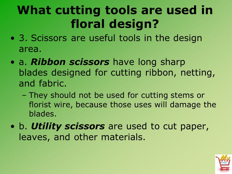 What cutting tools are used in floral design