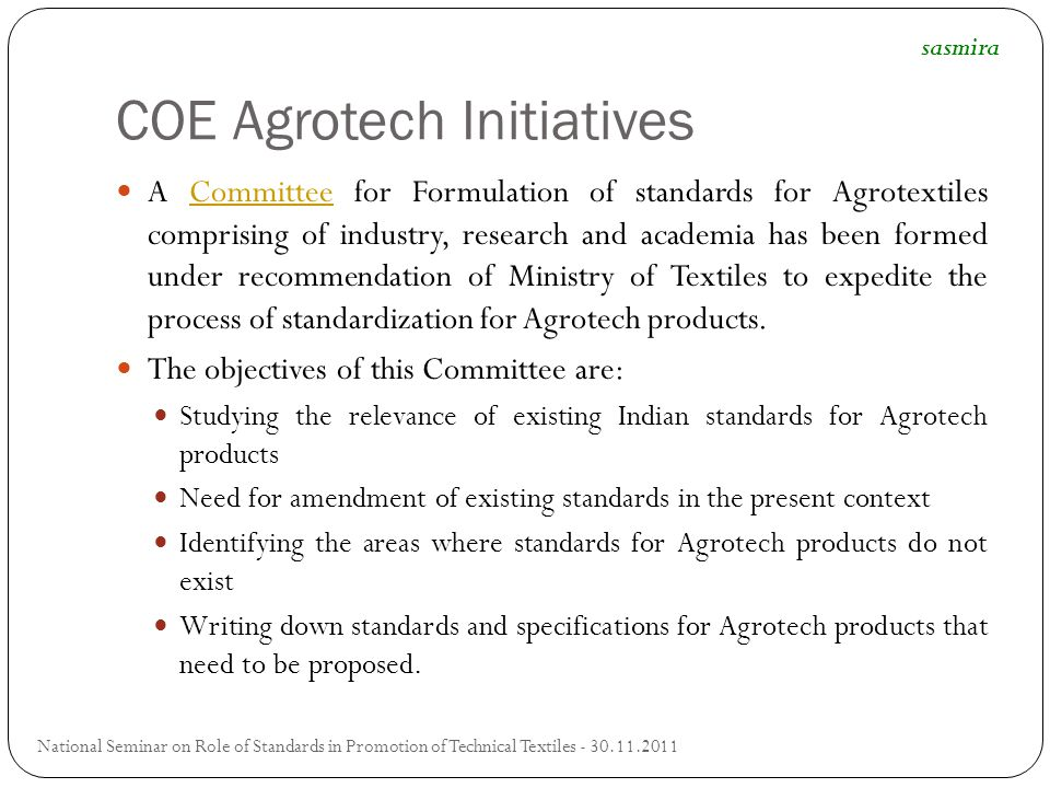 COE Agrotech Initiatives