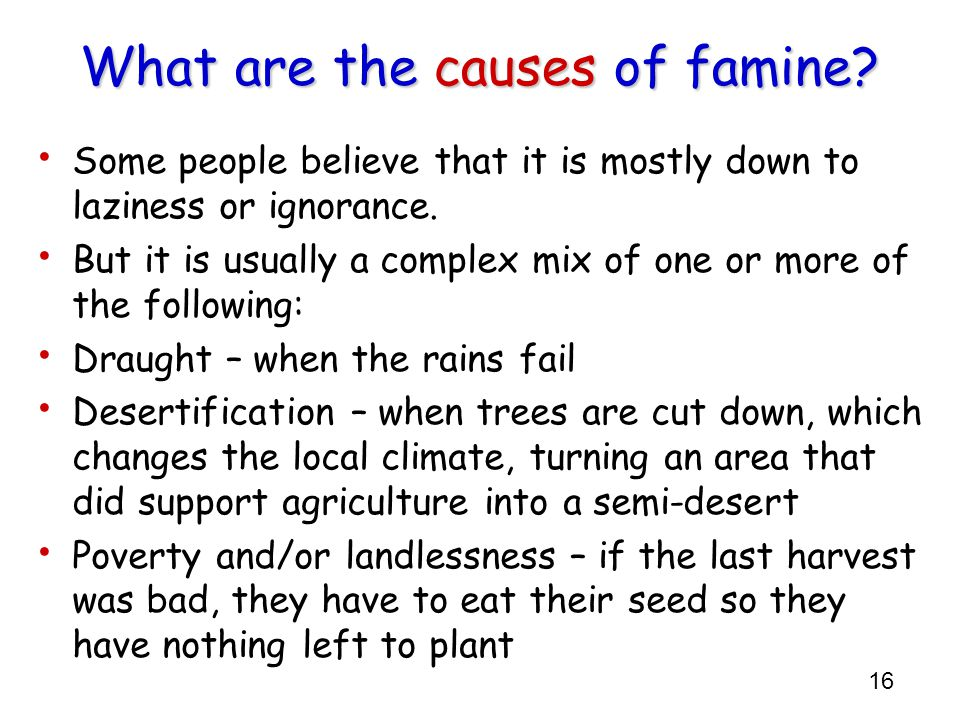 What are the causes of famine