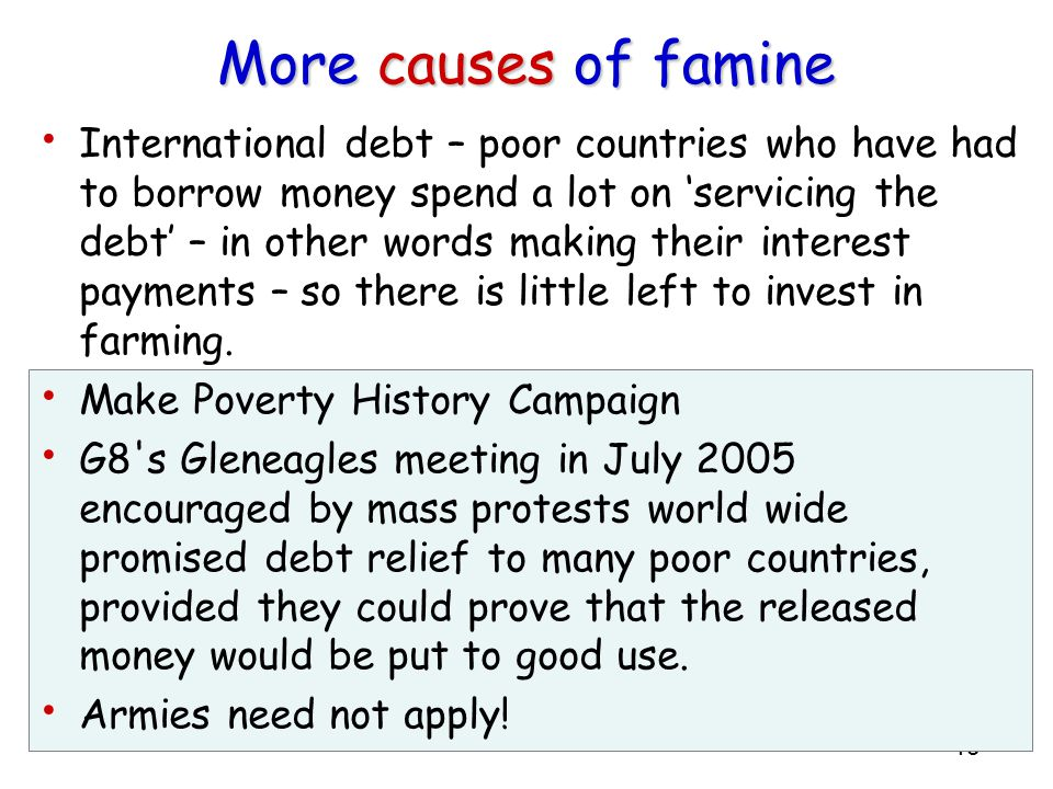 More causes of famine