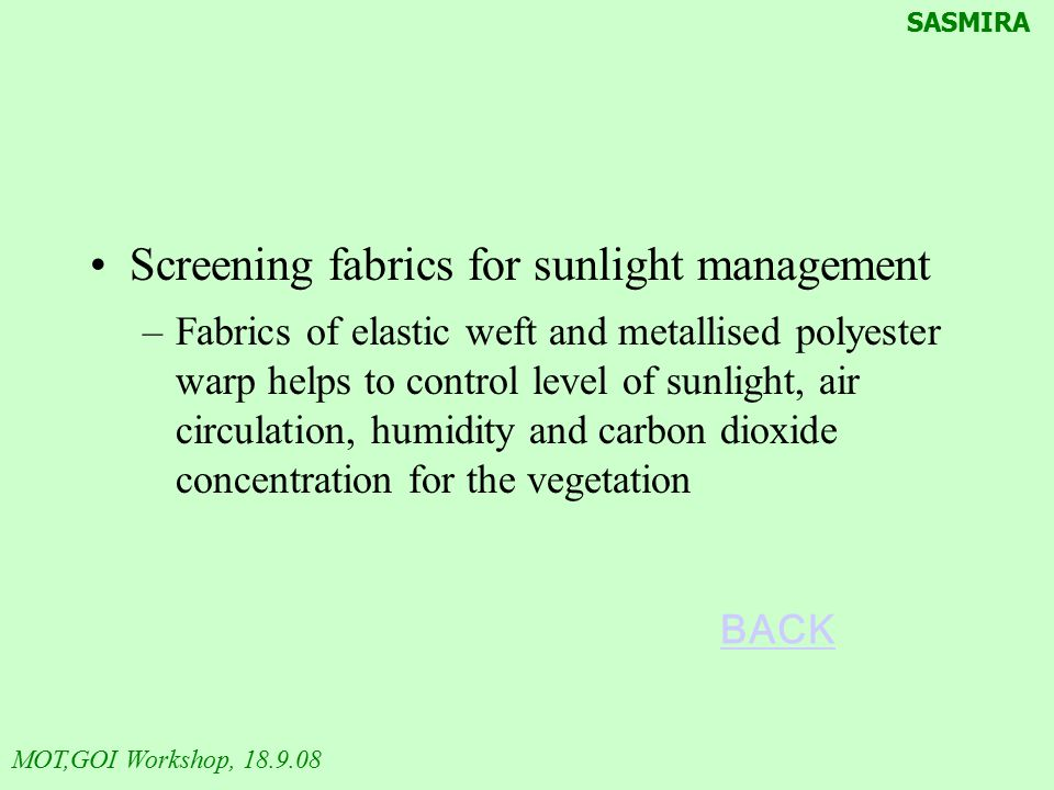 Screening fabrics for sunlight management