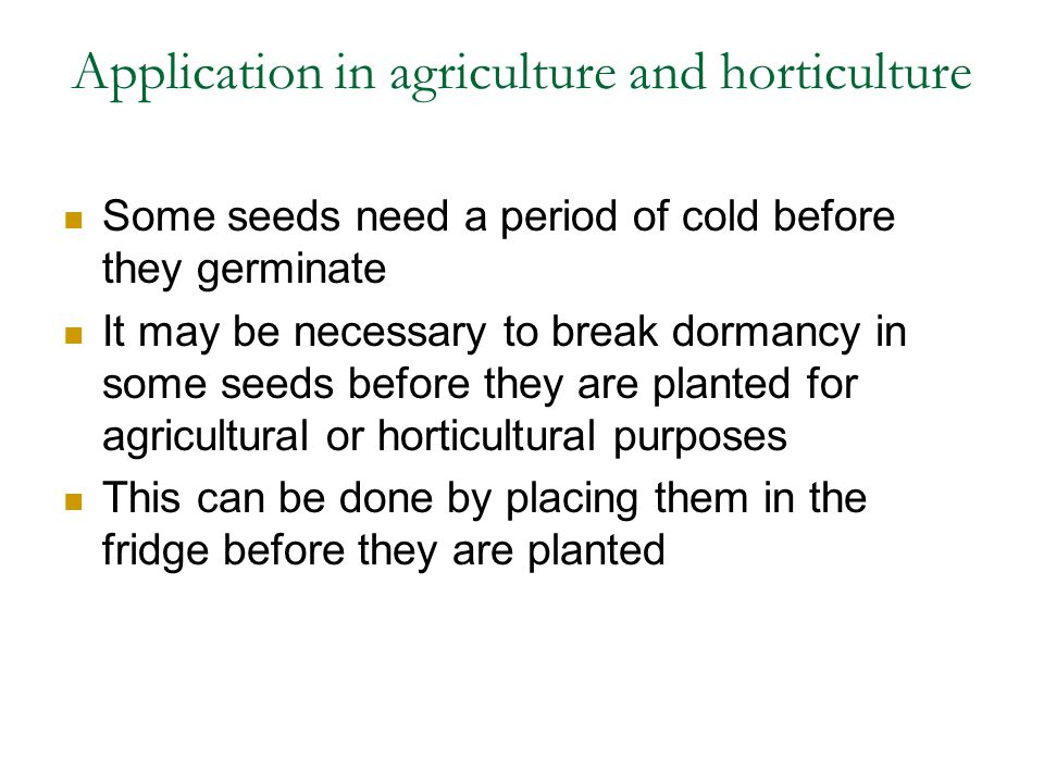 Application in agriculture and horticulture