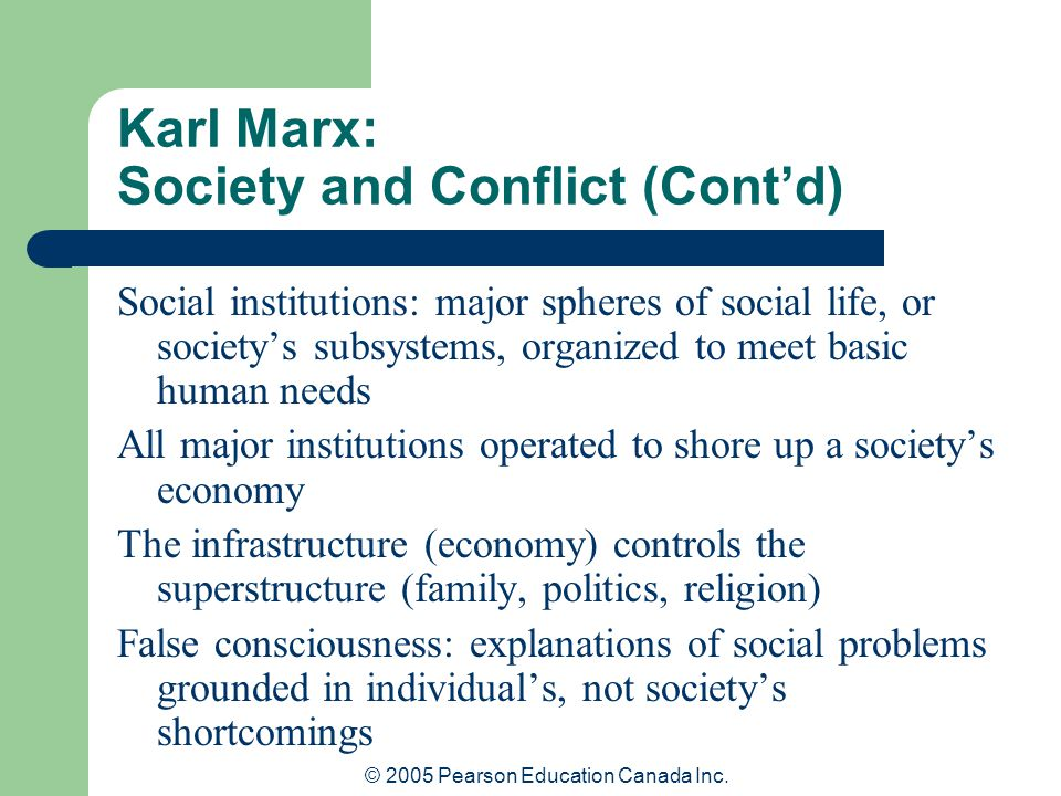 Karl Marx: Society and Conflict (Cont'd)