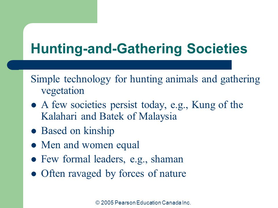 Hunting-and-Gathering Societies