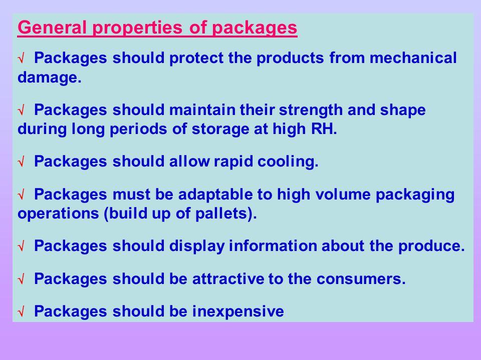 General properties of packages