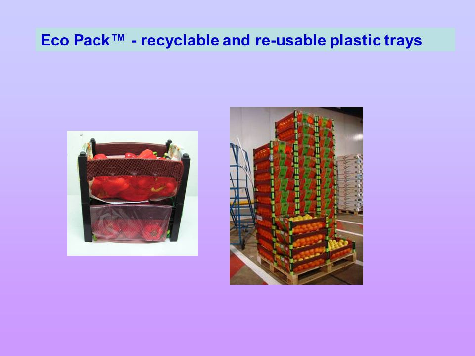 Eco Pack™ - recyclable and re-usable plastic trays