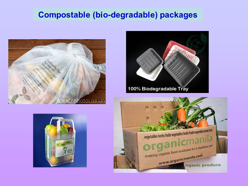 Compostable (bio-degradable) packages