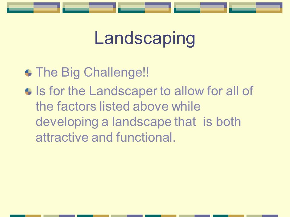Landscaping The Big Challenge!!