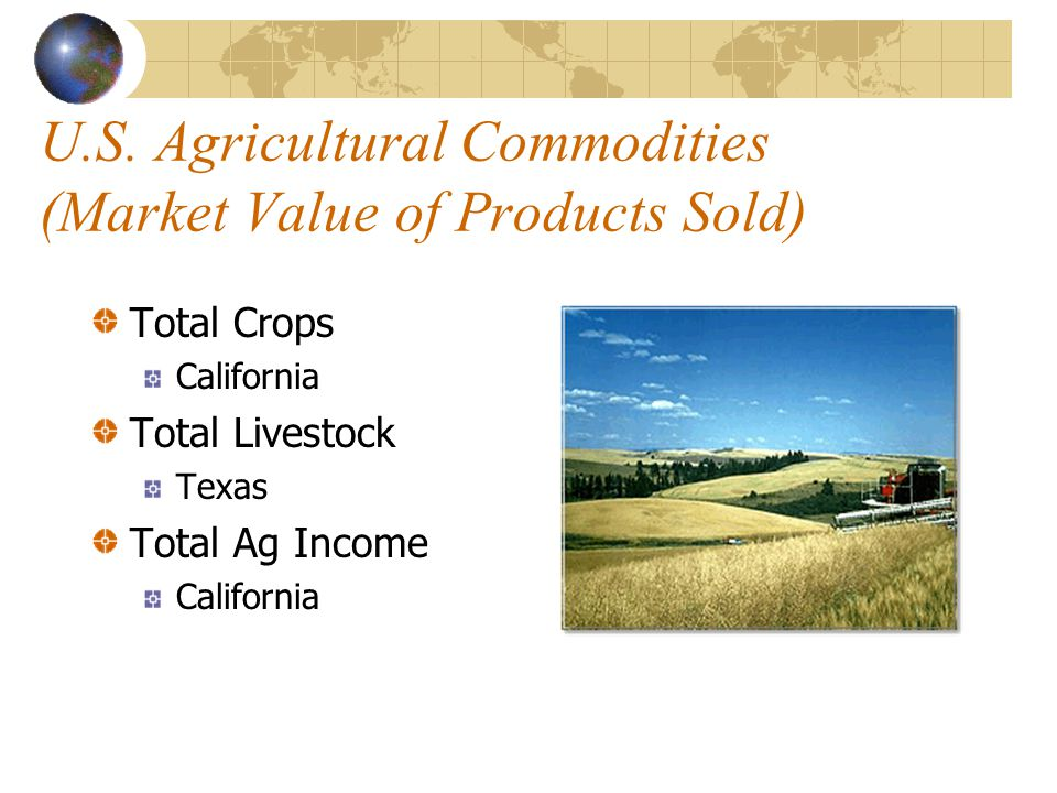 U.S. Agricultural Commodities (Market Value of Products Sold)