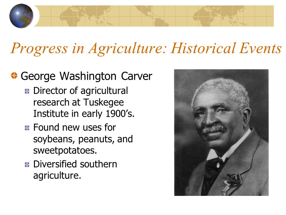 Progress in Agriculture: Historical Events
