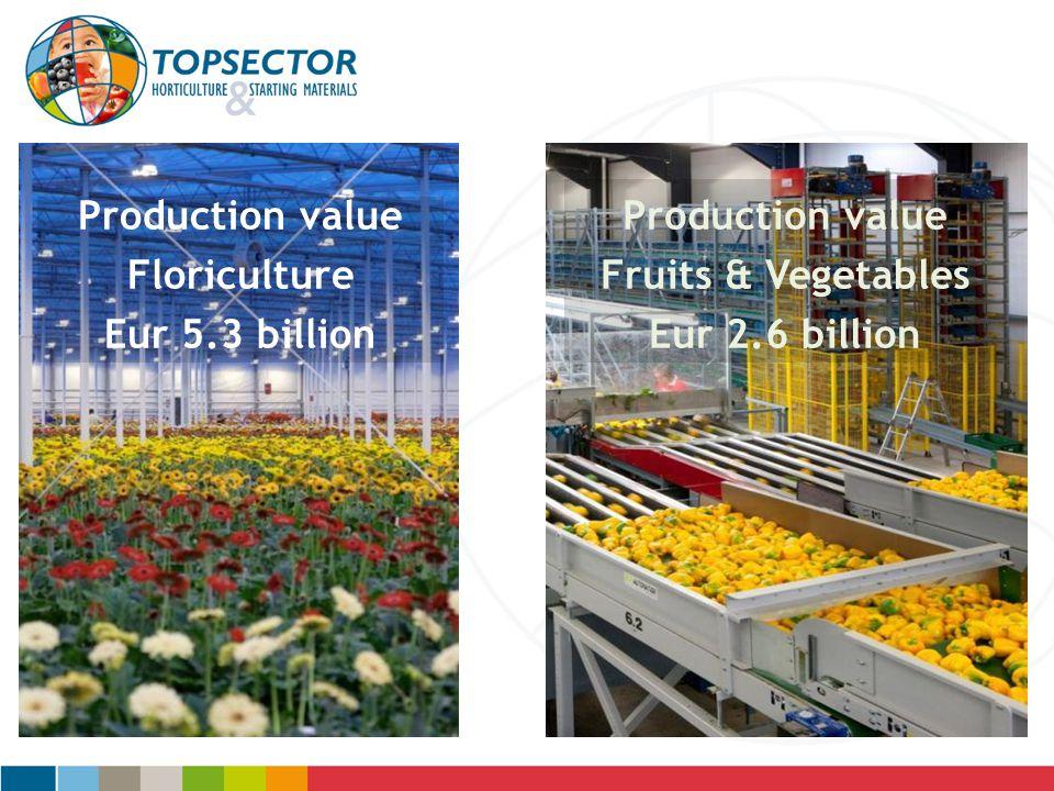 Production value Production value Fruits & Vegetables Floriculture