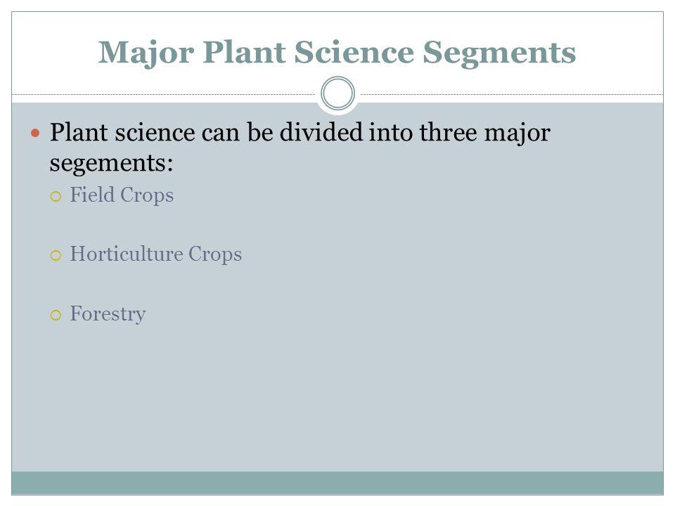 Major Plant Science Segments