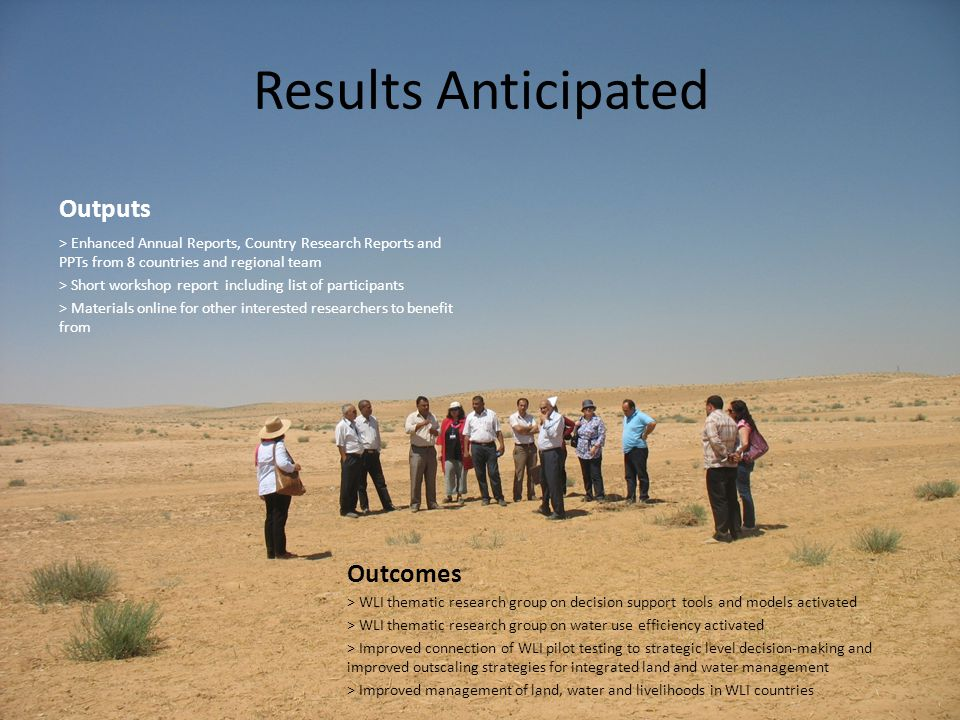 Results Anticipated Outputs Outcomes