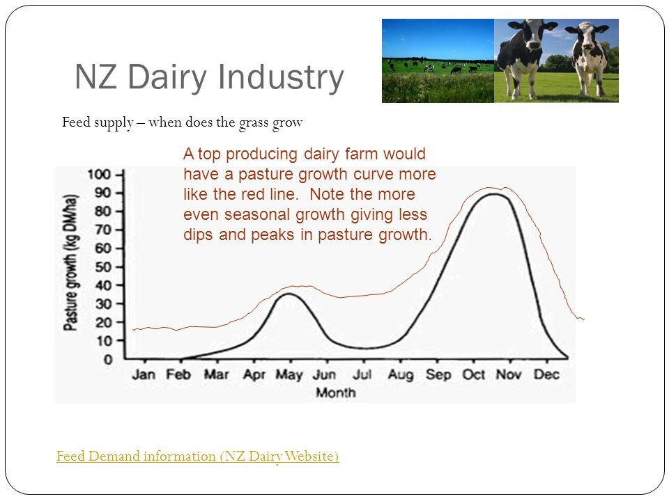 NZ Dairy Industry Feed supply – when does the grass grow