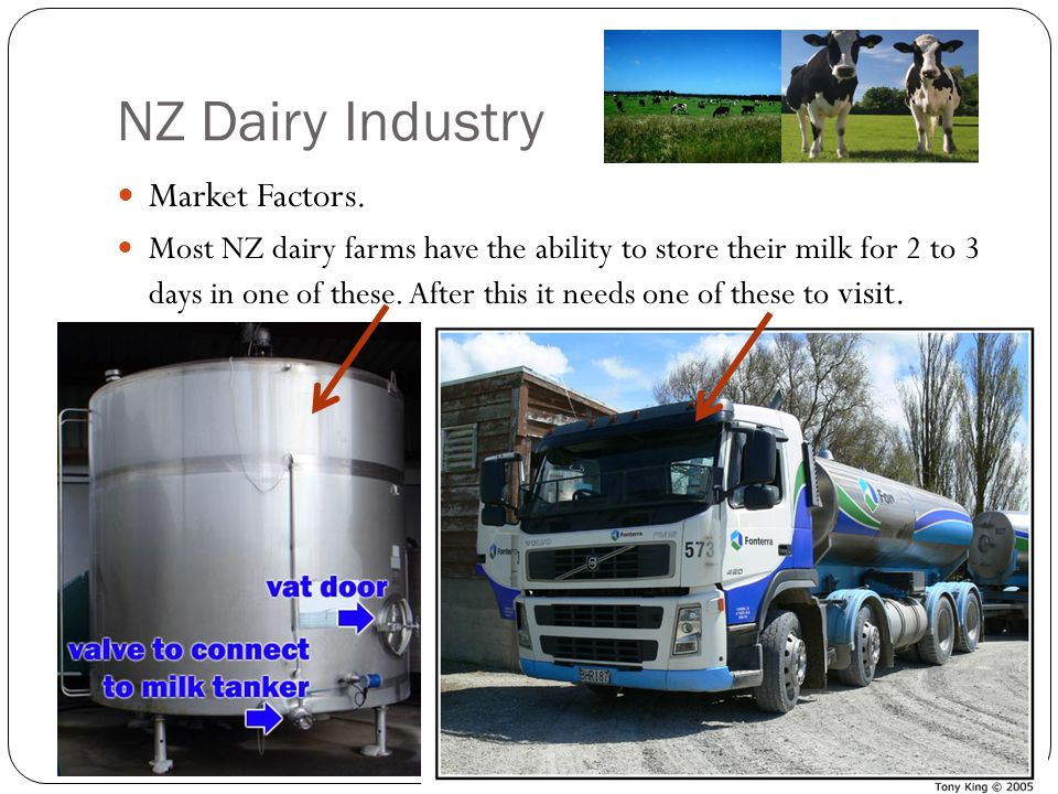NZ Dairy Industry Market Factors.