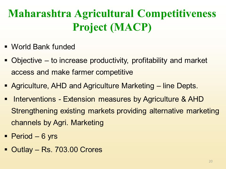 Maharashtra Agricultural Competitiveness Project (MACP)