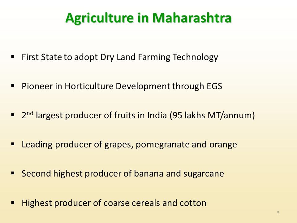 Agriculture in Maharashtra
