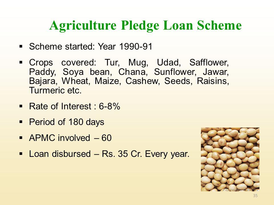 Agriculture Pledge Loan Scheme