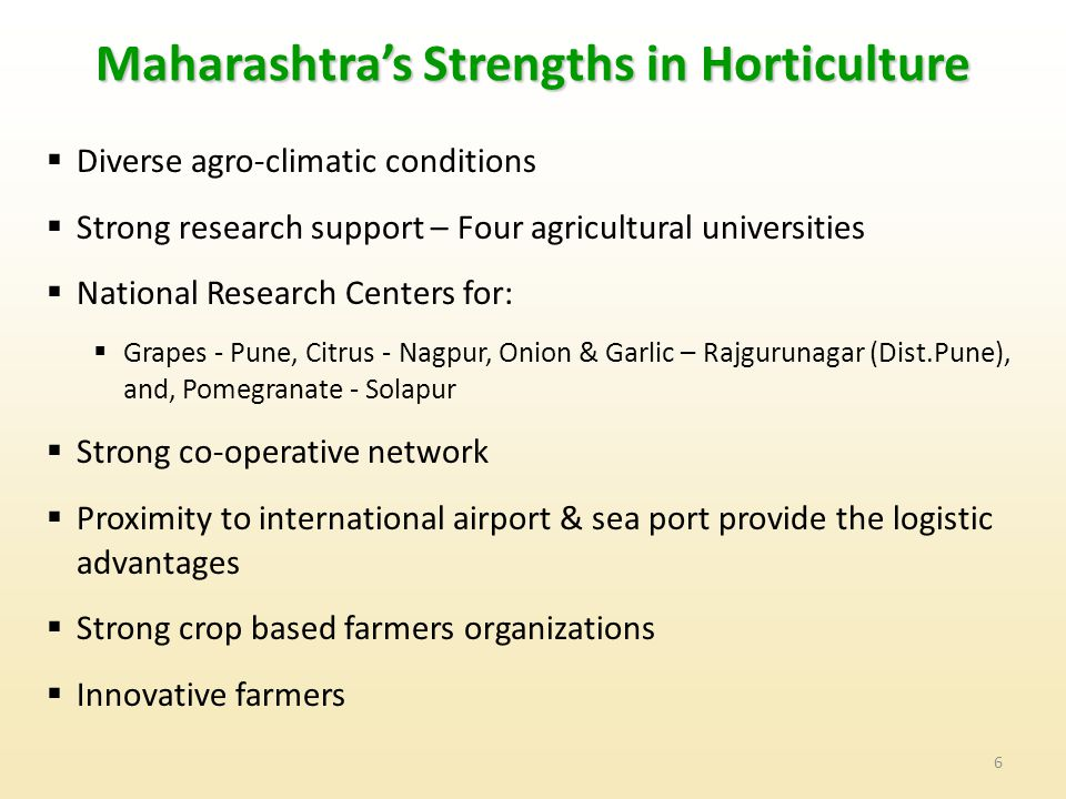 Maharashtra's Strengths in Horticulture