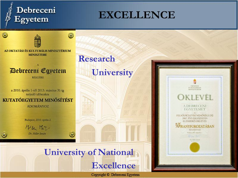 EXCELLENCE Research University R University of National Excellence