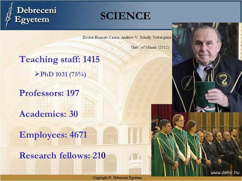 SCIENCE Teaching staff: 1415 Professors: 197 Academics: 30