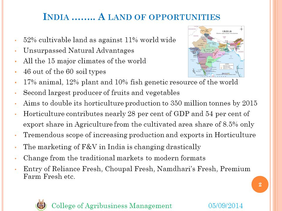 India …….. A land of opportunities
