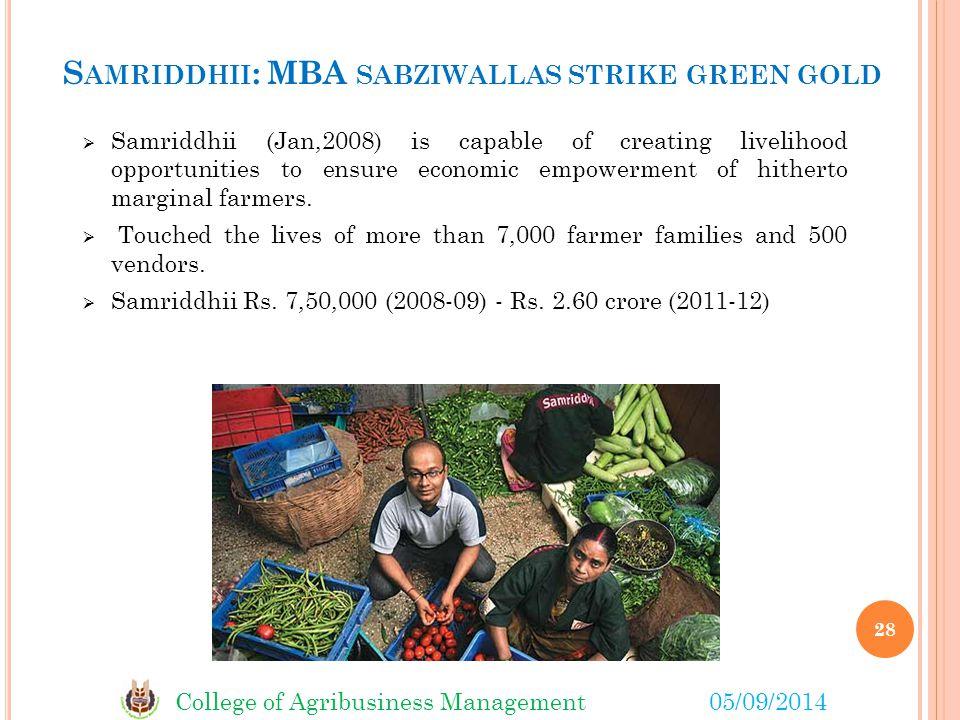 Samriddhii: MBA sabziwallas strike green gold