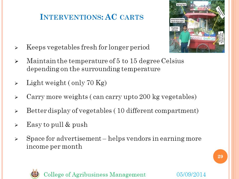 Interventions: AC carts